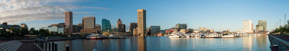 Baltimore Inner Harbor viewed from Maryland Science Center